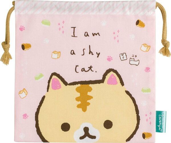 X射線【C705868】麵包貓束口袋M,縮口袋防塵袋置物袋旅行收納袋整理袋束口袋化妝包