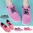 【AA6003】綁帶休閒鞋 運動鞋 布面鞋 粉色系混色布面材質 MIT台灣製 2色 0