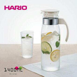 日本製 HARIO 直立式耐熱玻璃瓶 1400ml 玻璃壺 冷水壺 冷泡茶壺