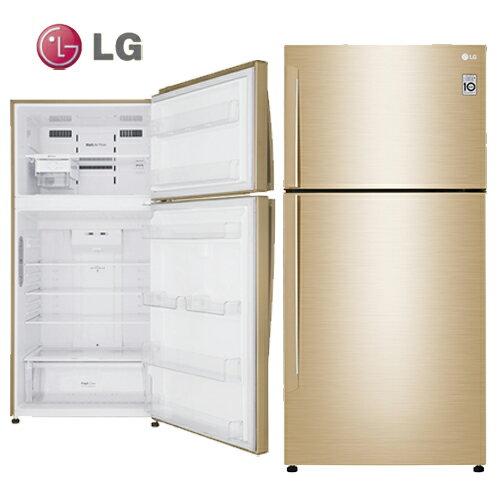 LG樂金GN-BL497GV冰箱494L金色直驅變頻上下門一級能效光燦金