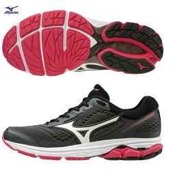 WAVE RIDER 22 一般型 女款慢跑鞋 J1GD183171(黑灰X白)【美津濃MIZUNO】
