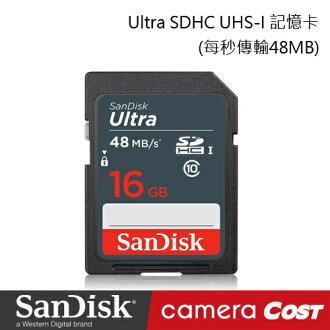SanDisk Ultra SDHC UHS-I 16G 記憶卡 每秒 48MB 公司貨 7年保固