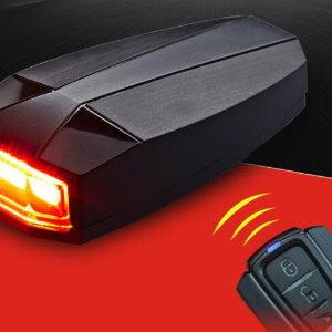 美麗大街【ML106092602】A6自行車遙控報警USB充電智能尾燈警示燈