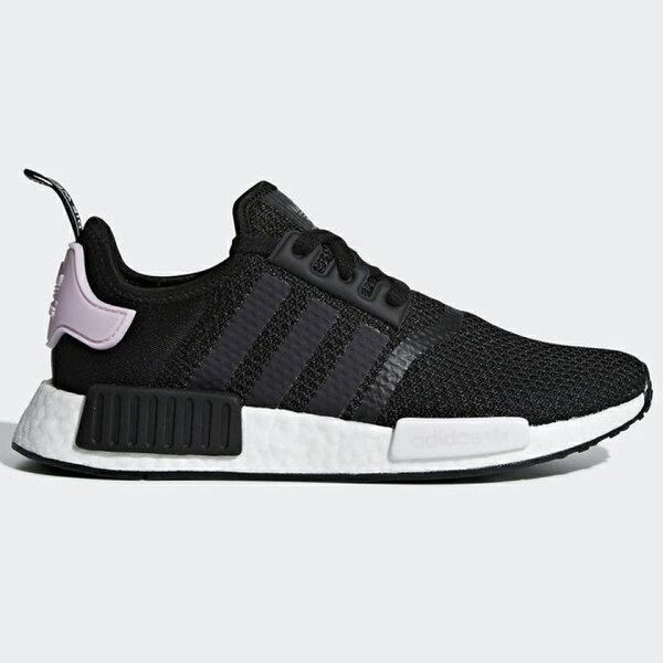 AdidasNMD_R1Black女鞋慢跑休閒BOOST襪套網布透氣黑粉【運動世界】B37649