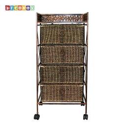 DecoBox四抽海草收納活動櫃(衣物收納櫃,抽櫃,收納櫃,置物櫃,電視櫃)