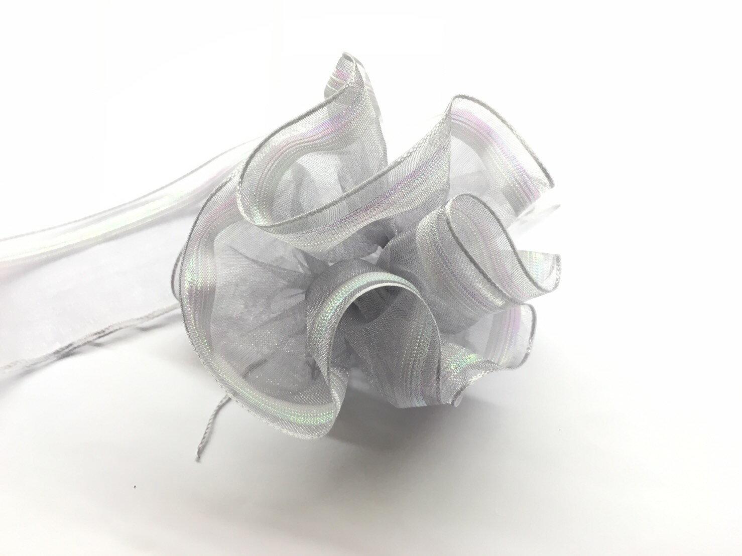 【Crystal Rose緞帶專賣店】單邊漸層拉花帶 38mm 3碼 (4色) 1
