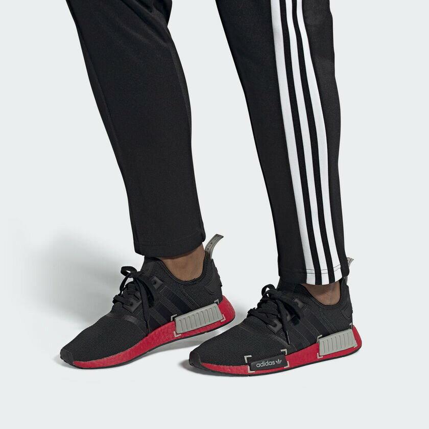 帝安諾-實體店面 Adidas NMD R1 Black Red BOOST 黑紅 FV3907 引號 黑魂 歐洲限定款► 618天天領券現折120