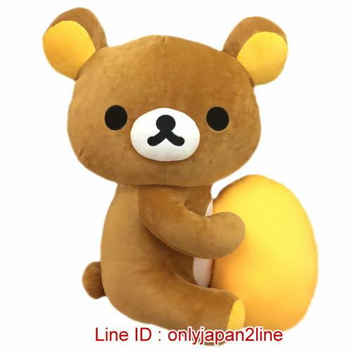 【真愛日本】17010300005全身側做抱黃枕-45CM懶熊  SAN-X 懶熊 奶妹 奶熊 抱枕 娃娃 公仔 正品