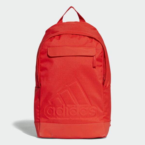 ADIDAS後背包雙肩休閒舒適橘紅【運動世界】CG0508