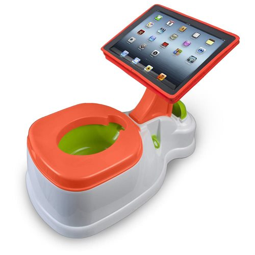 CTA Digital 2-In-1 iPotty with Activity Seat for iPad - 43 lb Load Capacity 0