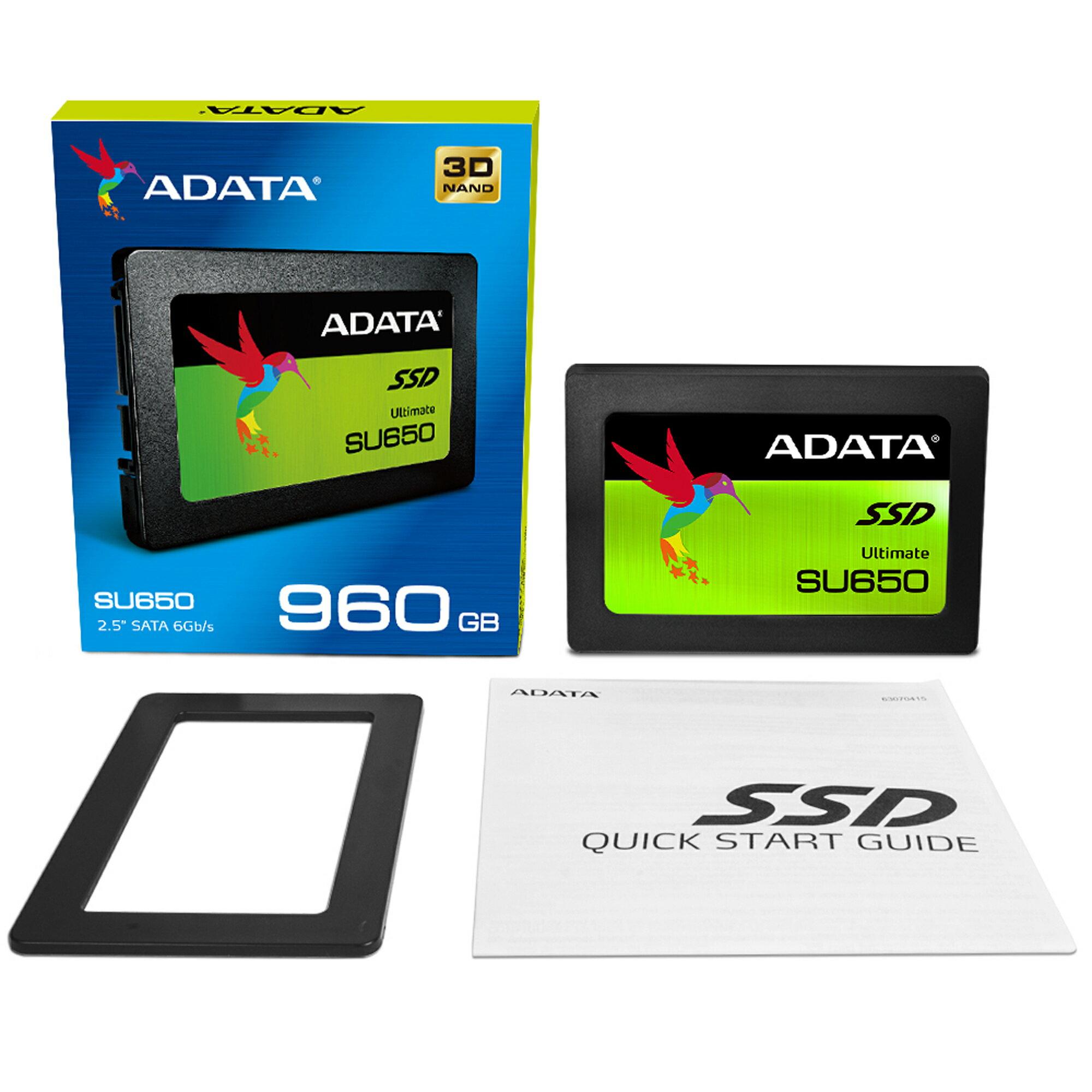 "ADATA Ultimate SU650 3D NAND 2.5"" 960 GB SSD (ASU650SS-960GT-C) 1"