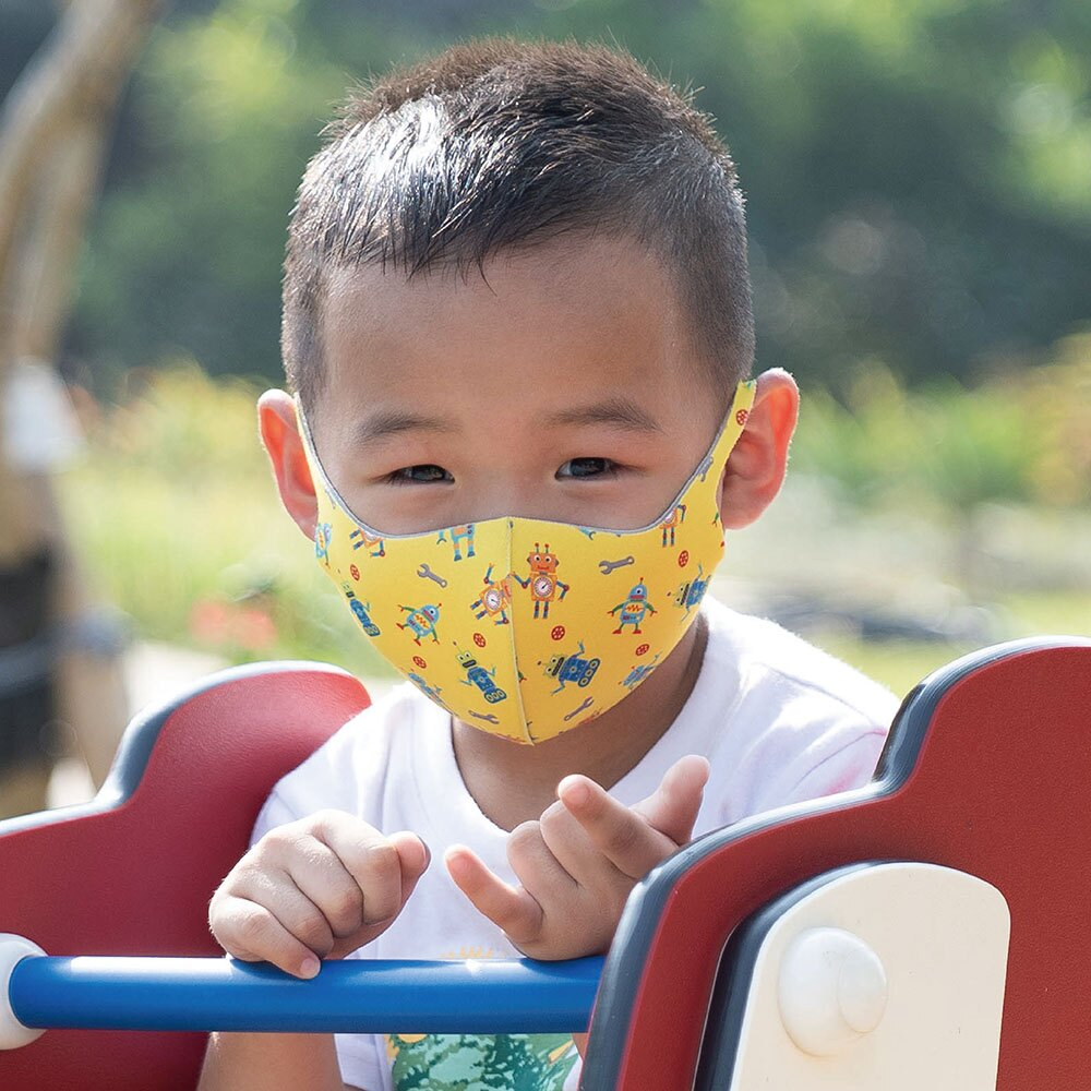 【Prodigy波特鉅】機器特工─兒童款抗UV3D立體透氣口罩1入組