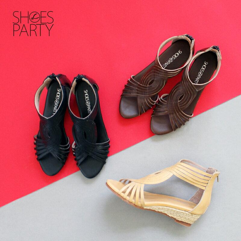 【S2-17118L】拉長下半身比例S型真皮羅馬涼鞋_Shoes Party 0