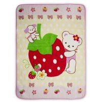 彌月寢具用品推薦到Baby City 草莓熊盒裝童毯-粉/防風/冷氣毯/彌月禮 (精美禮盒裝,送禮自用兩相宜)就在麗兒采家推薦彌月寢具用品
