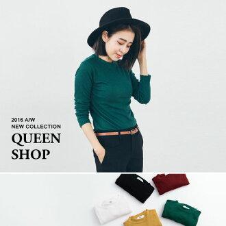 Queen Shop【01094145】小立領坑條合身上衣 五色售*現貨+預購*