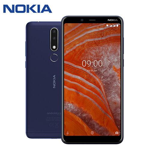 NOKIA 3.1 PLUS 6吋八核雙鏡頭智慧型手機(3G/32)-藍色【愛買】