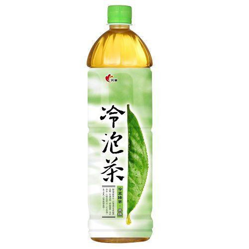 光泉冷泡茶-冷萃綠茶(無糖)1235ml【愛買】