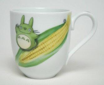 【真愛日本】18021100009 精緻瓷杯-蔬果彩繪玉米 宮崎駿 龍貓 TOTORO 馬克杯 Noritake
