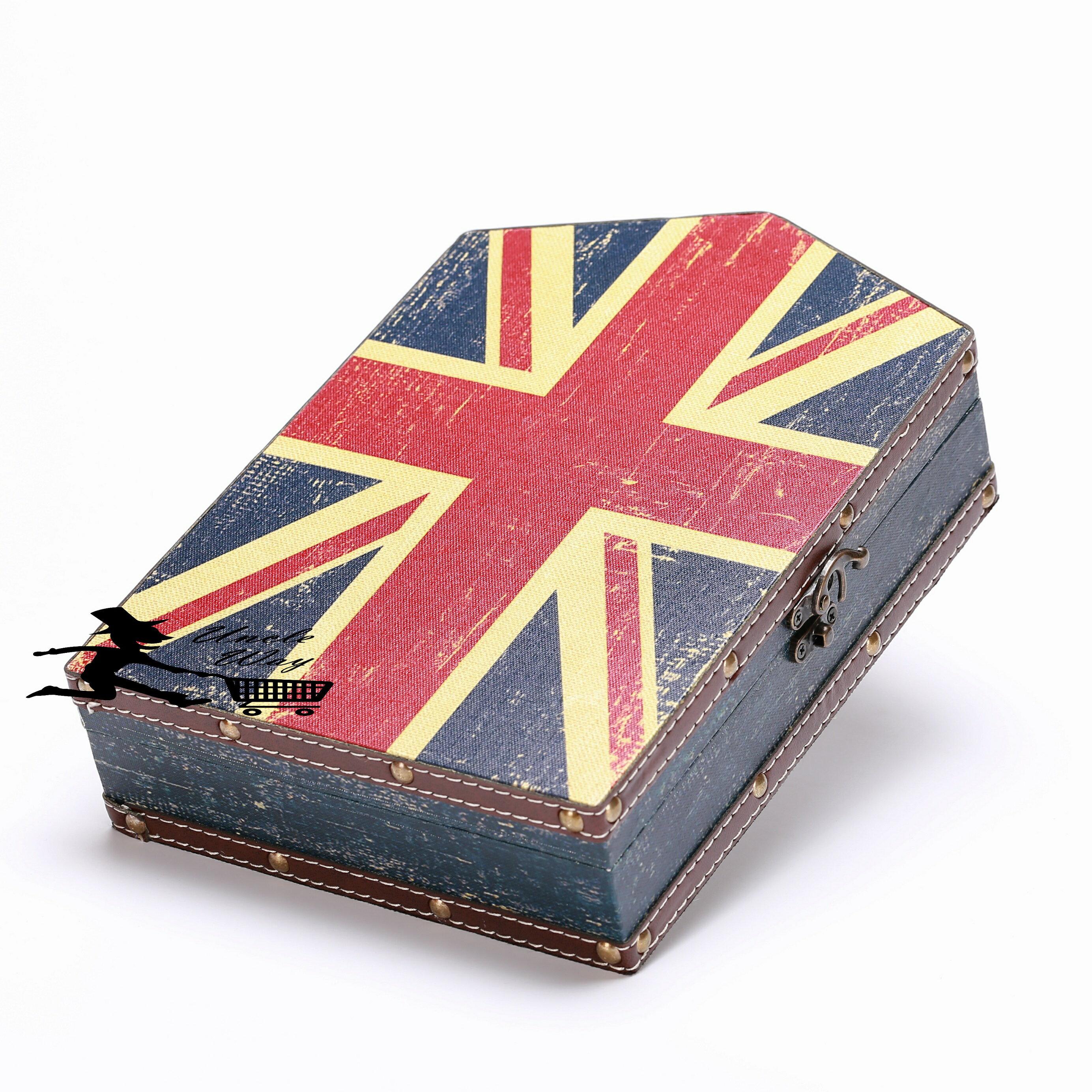 [Uncle way 百貨城堡] 英倫風木質鑰匙盒 英國旗 雜物鑰匙箱 遮擋箱 居家裝飾 ZAKKA 壁掛 居家裝飾