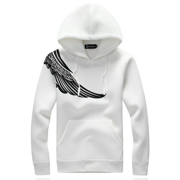 ◆快速出貨◆刷毛T恤 連帽刷毛 情侶T恤 暖暖刷毛 MIT台灣製.連帽-肩膀天使翅膀【YS0430】可單買.艾咪E舖 2