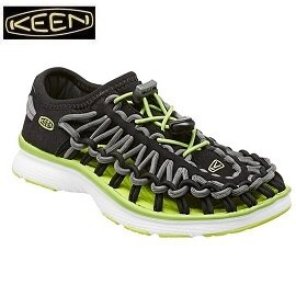 [ KEEN ] 童 UNEEK休閒涼鞋 黑/綠 / 編織涼鞋 / 水陸兩用鞋 / 公司貨 1015481