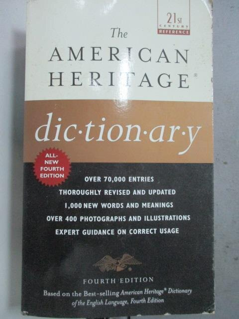 【書寶二手書T3/原文書_JAI】The American Heritage Dictionary: Fourth Ed