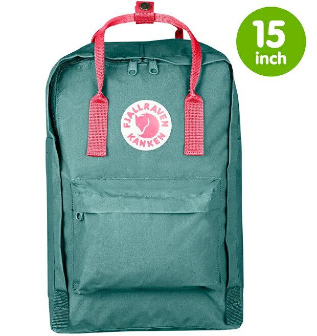 Fjallraven 瑞典北極狐 Kanken Laptop 15 瑞典書包/空肯電腦包/方型後背包15吋 27172 664-319 霜綠/桃粉紅