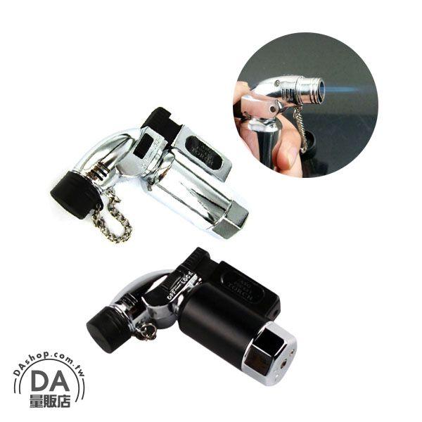 《DA量販店》金屬 直桶 造型 噴槍式 防風 強力噴射 打火機 可充瓦斯 重複使用(37-502)