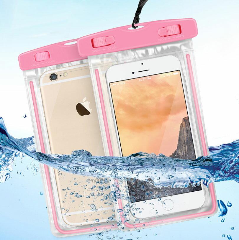 PS Mall 夜光款手機 螢光防水袋 觸摸透明PVC潛水套【J312】 2