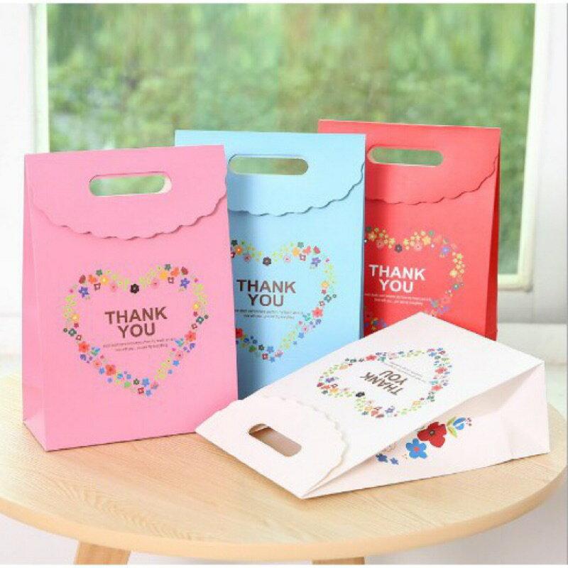 【嚴選&現貨】Thank you 精緻手提紙袋 牛扎糖袋 雪Q餅袋 鳳梨酥袋 婚禮小物 包裝袋 喜糖袋 禮物袋 小提袋