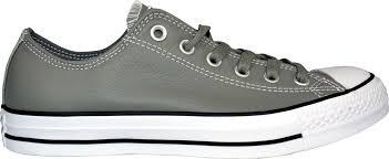 CONVERSE ALL STAR CHUCK TAYLOR OX 灰 皮革 男鞋 US 7.5~12 153817C B