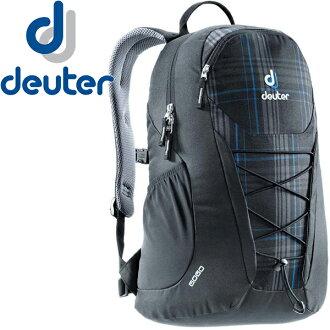 【露營趣】中和 送手電筒 deuter 3820016 GoGo 25L休閒旅遊背包 登山背包 健行背包(黑藍格)