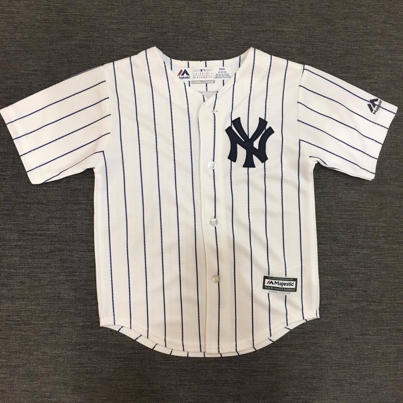 ~蟹老闆~Majestic 孩童 棒球球衣 大聯盟 MLB 紐約洋基 New York Y
