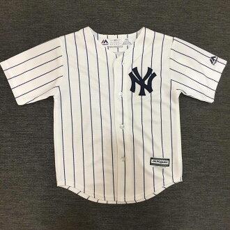 【蟹老闆】Majestic 孩童 棒球球衣 大聯盟 MLB 紐約洋基 New York Yankees 2T~YOUTH