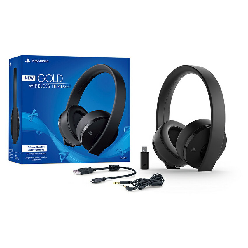 Sony PlayStation Gold Wireless Headset 7.1 Surround Sound PS4 New Version 2018 0