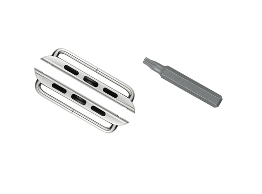 2-Adapters-for-40mm-Apple-Watch-Silver-Color-Connectors-Lugs-with-Outside-Screw-Bars-and-Star-Tool-for-iWatch-Series-4-Band-Strap-Replacement-Com