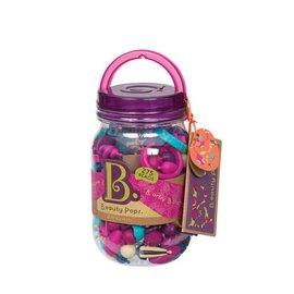 【淘氣寶寶】【美國B.Toys感統玩具】 Pop Arty! 波普珠珠點心罐/益智遊戲/串珠珠 275 PCS
