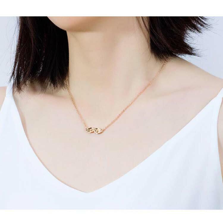 【5折超值價】時尚精美天使之翼造型女款鈦鋼項鍊