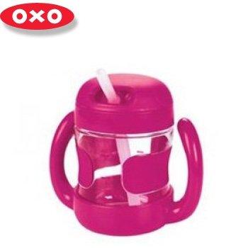 【淘氣寶寶】【美國oxo】手柄 吸管杯 / 吸管喝水杯( 附握把 )7oz(210ML) 【保證原廠公司貨】