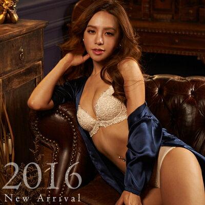 內衣 法式玫瑰蕾絲成套內衣組(四色:藍、象牙白、酒紅、黑)-胸罩_蜜桃洋房 1