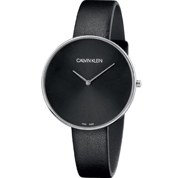 Calvinklein卡文克萊望月系列(K8Y231C1)樸素簡約設計腕錶黑42mm