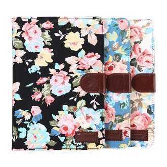 三星Galaxy Tab S2 9.7吋 T815 平板保護套 花布紋支架插卡皮套 T810 側翻平板保護殼【預購】