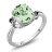 2.13 Ct Oval Green Amethyst Black Diamond 925 Sterling Silver Ring 0