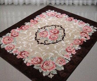 幸福家居商城:外銷日本等級出口日本鮮豔玫瑰200*240CM大尺寸高級地毯(客製訂作款)