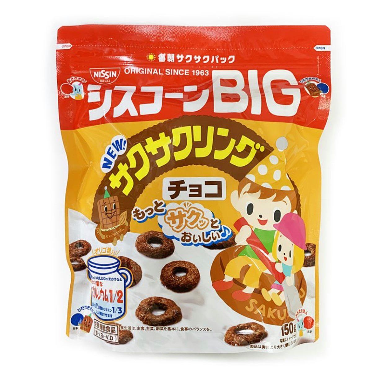 日清NISSIN BIG巧克力甜甜圈玉米片 150g