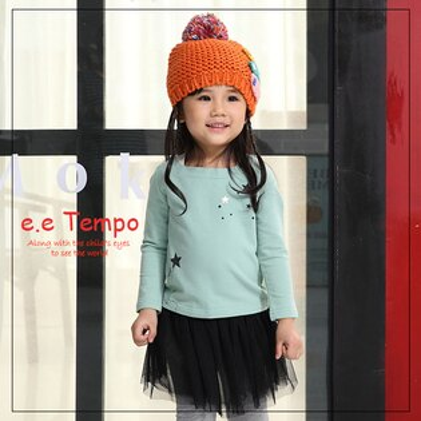 Pink Nana:eetempo童裝女童摘星星童話棉質上衣A11117現貨