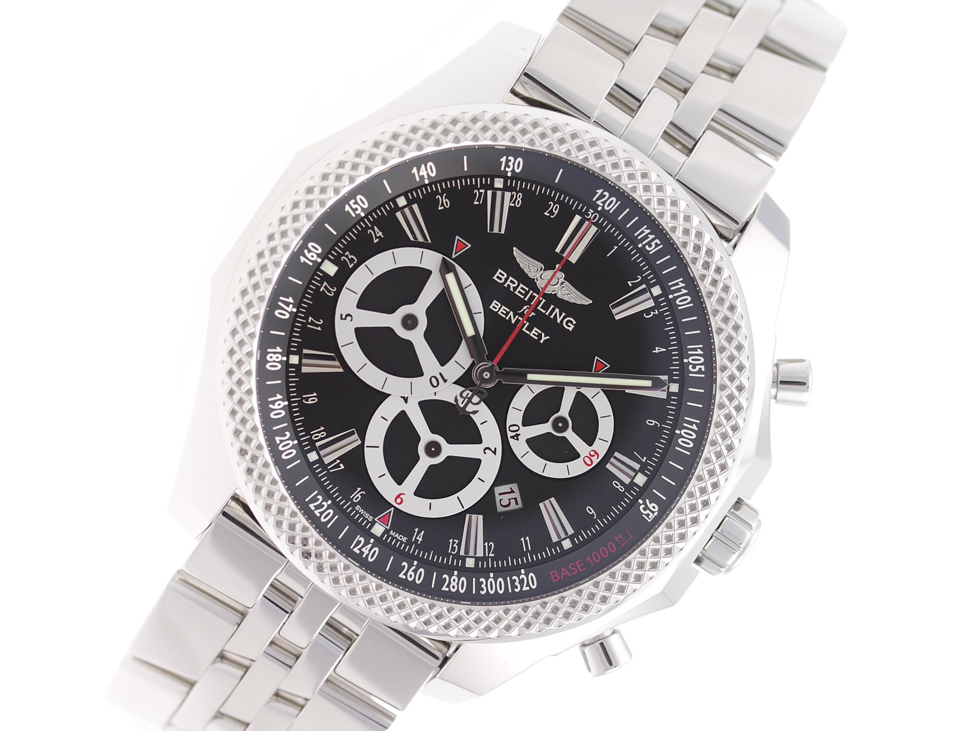 room watch chronograph rubber gmt on steel breitling strap property stainless l bentley