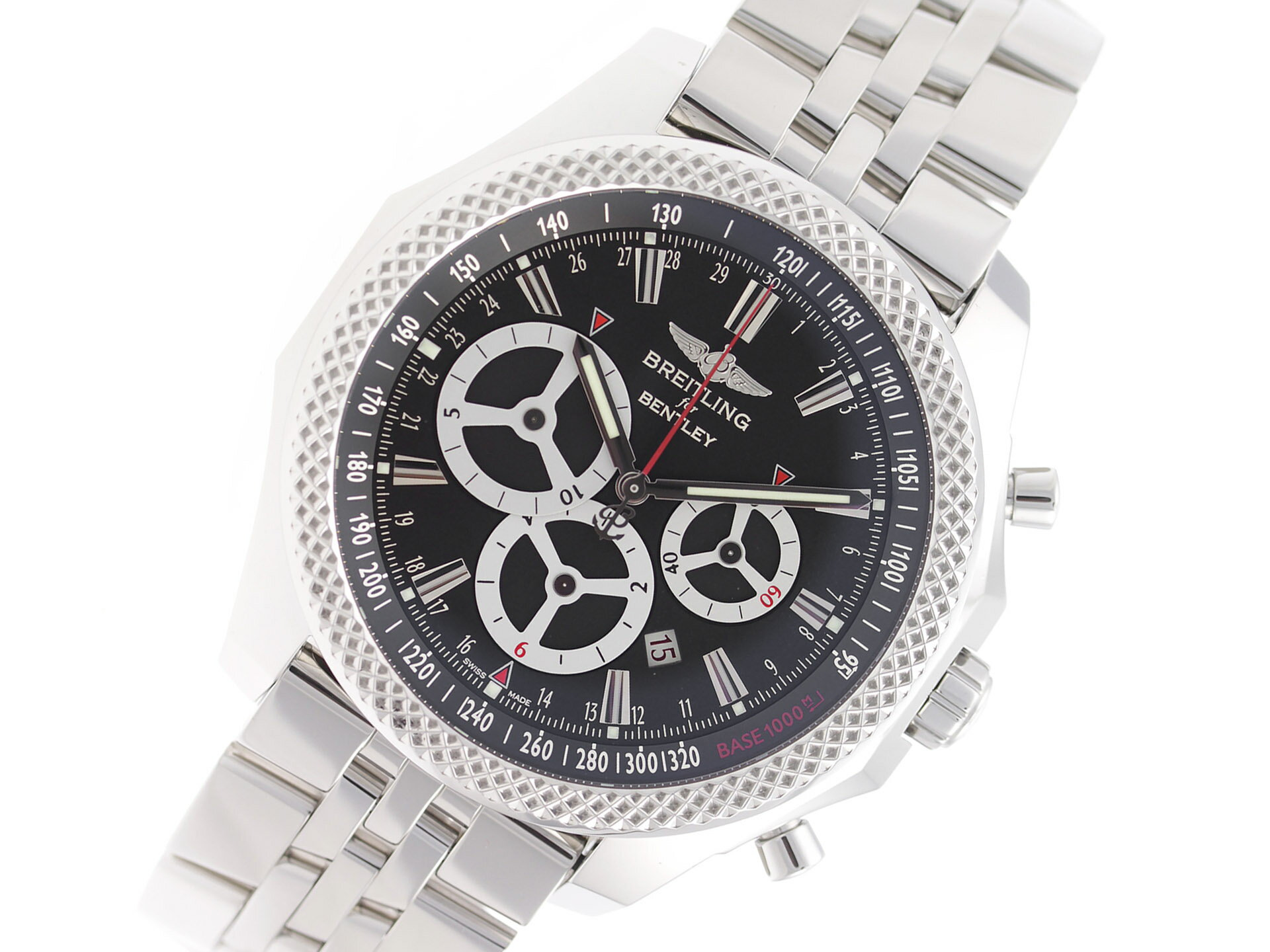 bentley motors in steel watch youtube ref breitling chronograph no