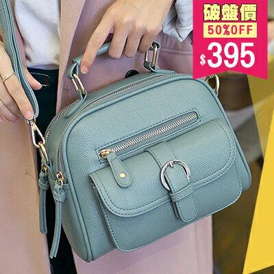 機車包 韓版質感荔枝紋 馬鞍包 手提包 斜背包 兩用包 包飾衣院 E1013 現貨+預購