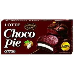 LOTTE 樂天 黑巧克力派 168g